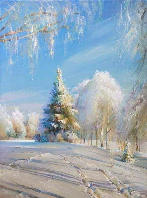 Winter morning with... Artist Roman Romanov