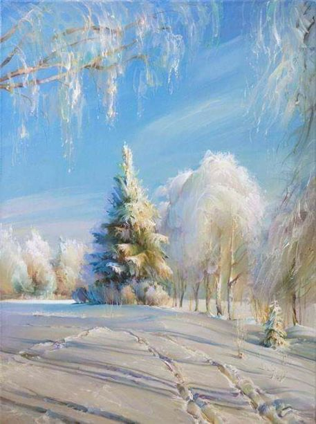 Winter morning with... Artist Roman Romanov