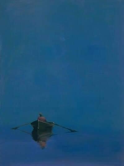 Anne Packard (1933) Barca a remi sul blu