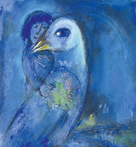 Marc Chagall, the oiseau Bleu (Partial) 1952, private collection Post by Federica De Santi