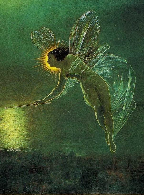 John Atkinson Grimshaw - Spirit of the Night (detail), 1879